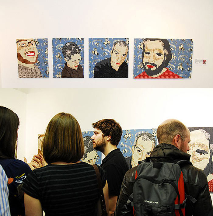 'POSSE' BEING EXHIBITED AT THE BRICK LANE GALLERY IN 2010